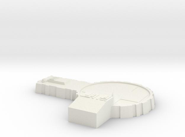 AMT Model Moonbase Landing Pad Original Scale in White Natural Versatile Plastic