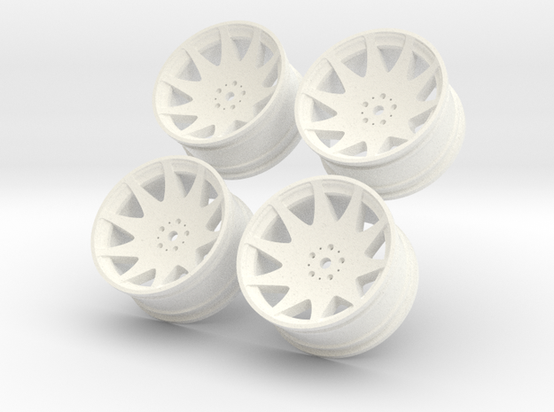 1/10 Touring Car MRR HR3 Wheel Set 3d printed