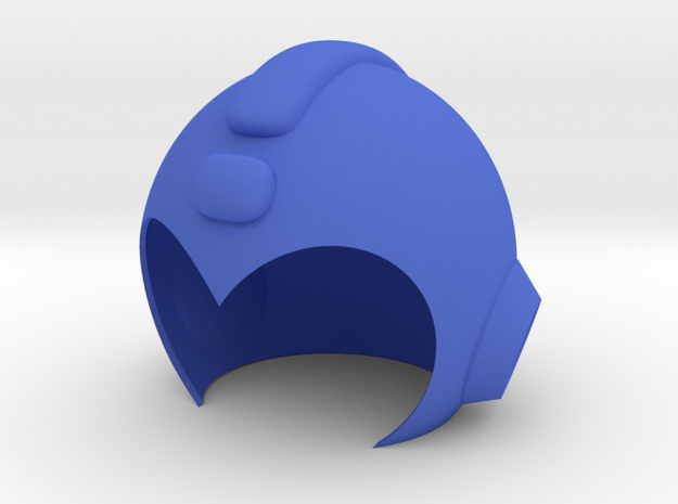 Mega Man Helmet in Blue Processed Versatile Plastic