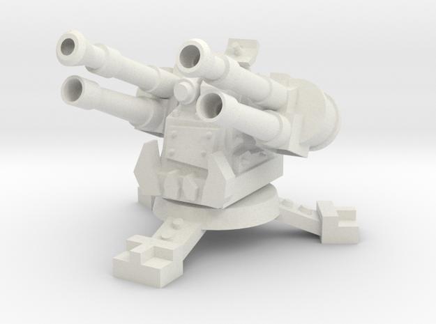 28mm Greenskin Quad AA Turret in White Natural Versatile Plastic