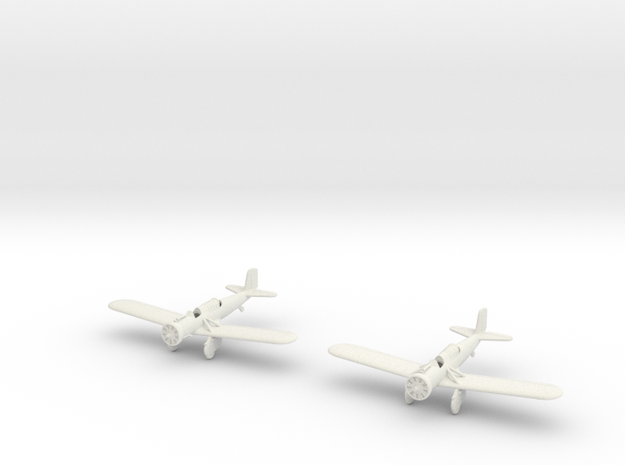 1/200 Curtiss A-12 Shrike (x2) in White Strong & Flexible