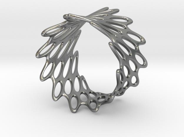 Net Bracelet in Raw Silver