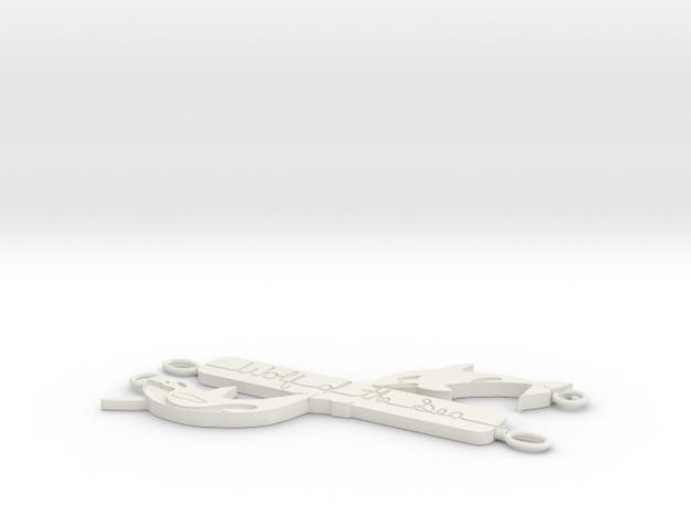 Orca - Wolf Of The Sea V 2 Pendant in White Natural Versatile Plastic