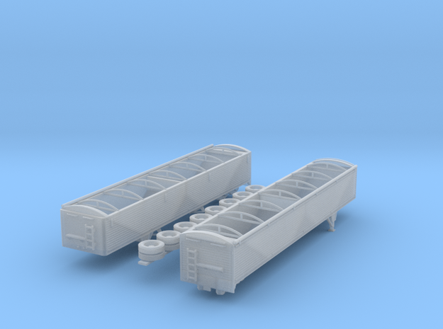 1:160 N Scale 43' Aluminum Grain Trailer in Smooth Fine Detail Plastic