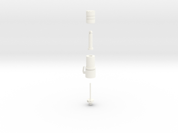 Pile Driver in White Strong & Flexible Polished