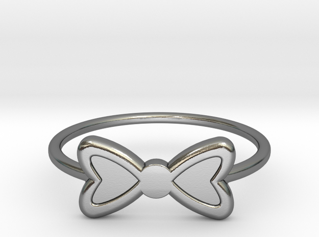 Knuckle Bow Ring, 15mm diameter by CURIO in Polished Silver
