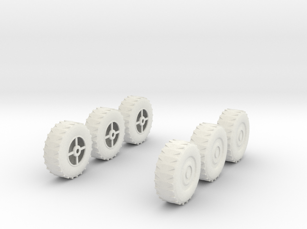 Wheel x6, 28mm, 1/35 3d printed