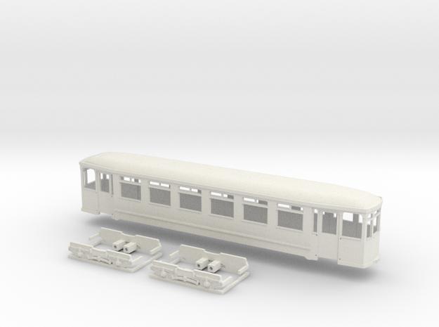 Gehäuse Vierachser Beiwagen Flensburg in White Natural Versatile Plastic