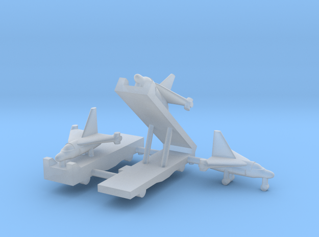 1/600 Experimental Aircraft Set 3 in Smooth Fine Detail Plastic