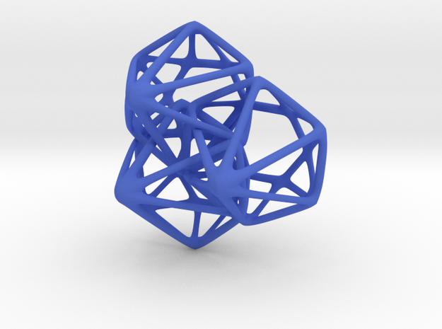 Skeleton Diamonds x3 Fused 3d printed