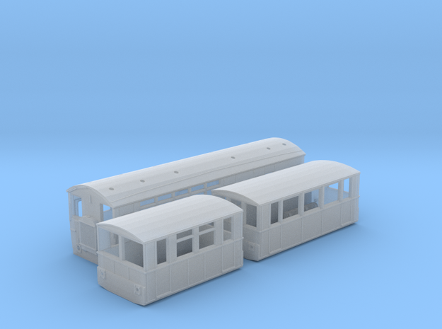 WCPR Railbus Pack (N Scale) in Smooth Fine Detail Plastic