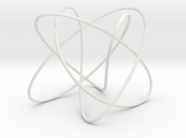 Lissajous (3, 5, 4) (π/2, π, π) in White Natural Versatile Plastic