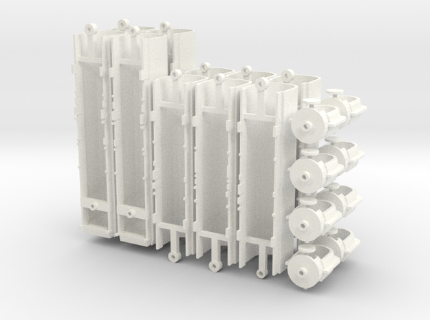 WIA Articulated Car Carrier Shell (N Scale) in White Processed Versatile Plastic