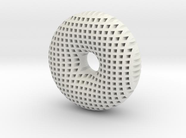 Torus 50mm in White Natural Versatile Plastic