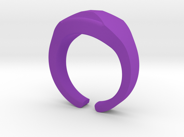 Heavy Ring model 1.1 (size US12: 21,4mm) in Purple Processed Versatile Plastic