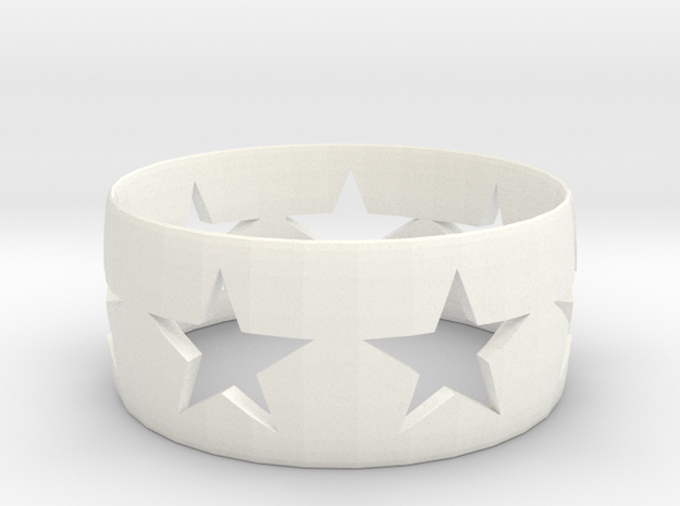 Star Band in White Processed Versatile Plastic