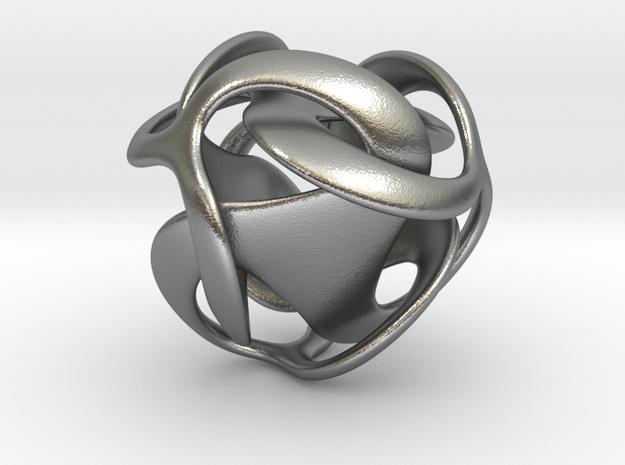 Tricobi - 20mm in Natural Silver
