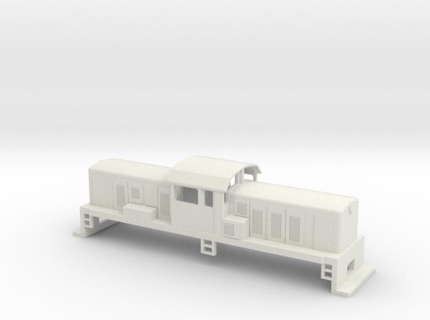 DSC Locomotive, New Zealand, (S Scale, 1:64) in White Natural Versatile Plastic