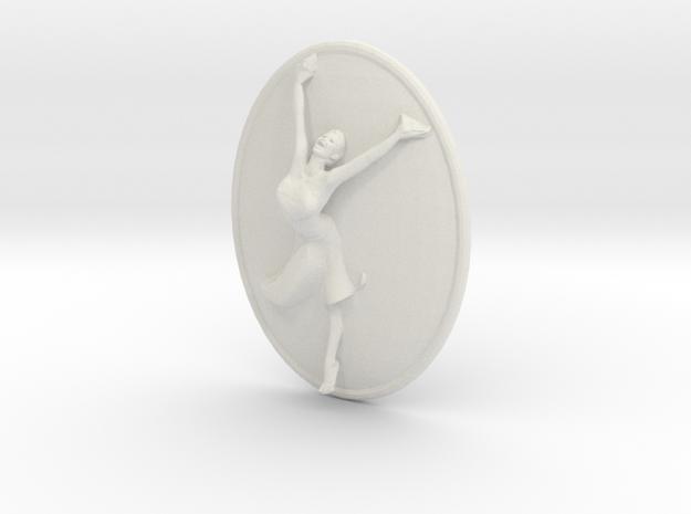 Joyful Dancer Small Pendant No Circle in White Natural Versatile Plastic
