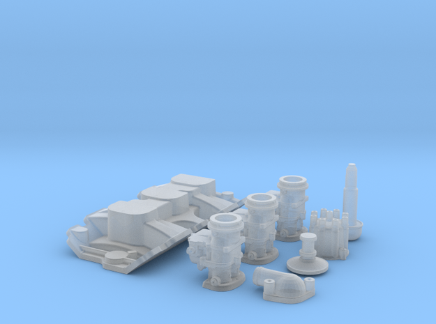 1/25 SBC 3X2 Stromberg Intake System