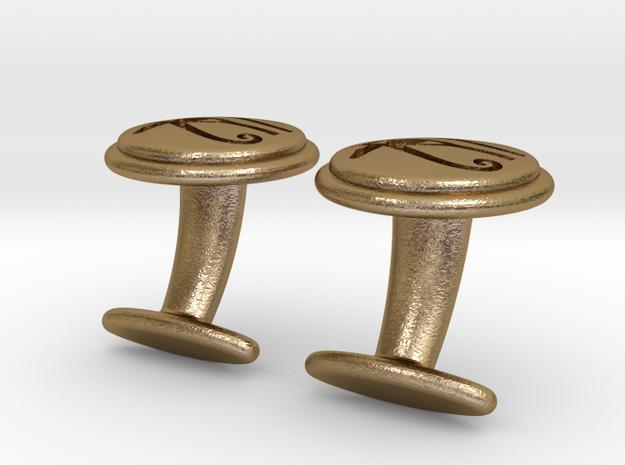 Eye of Horus cufflinks 3d printed