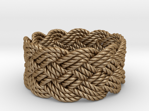Nautical Turks Head Ring Knot 3d printed