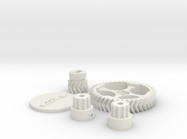 Schlaboratory Complete Gear Kit in White Natural Versatile Plastic