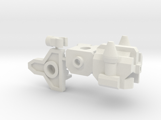 Overly-mean Bot Upgrade (Plain Chest) in White Natural Versatile Plastic