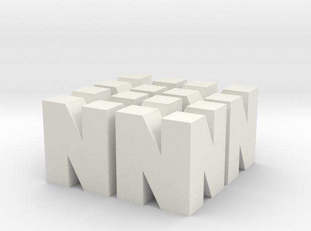 Nintendo N64 Logos 3d printed
