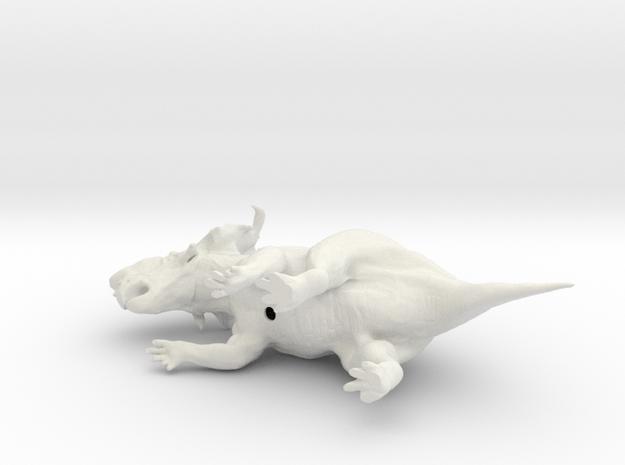 Pachyrhinosaurus 1:72 scale model in White Natural Versatile Plastic