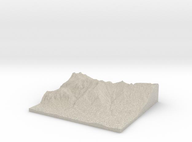 Model of Völs 3d printed