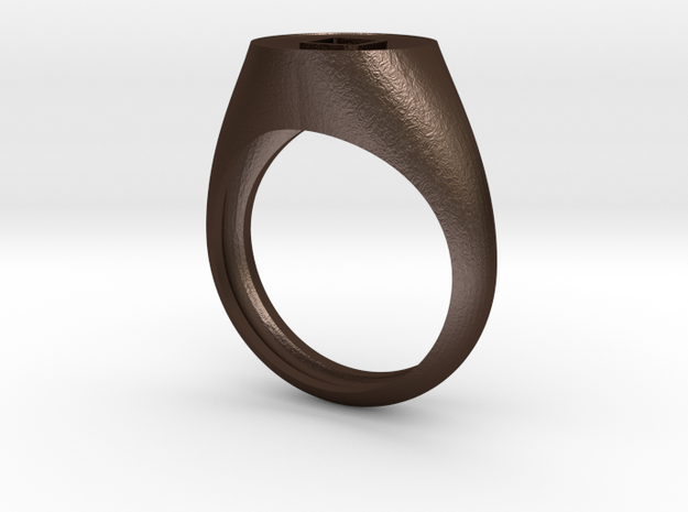 Ring5126 Apple IPhone Home Button Men's Ring Size8 3d printed