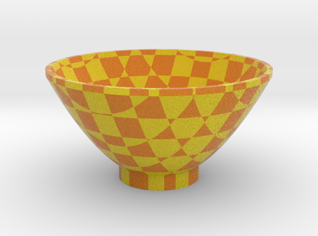 DRAW bowl - segmented E in Full Color Sandstone