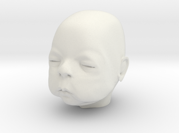 Baby Head in White Strong & Flexible