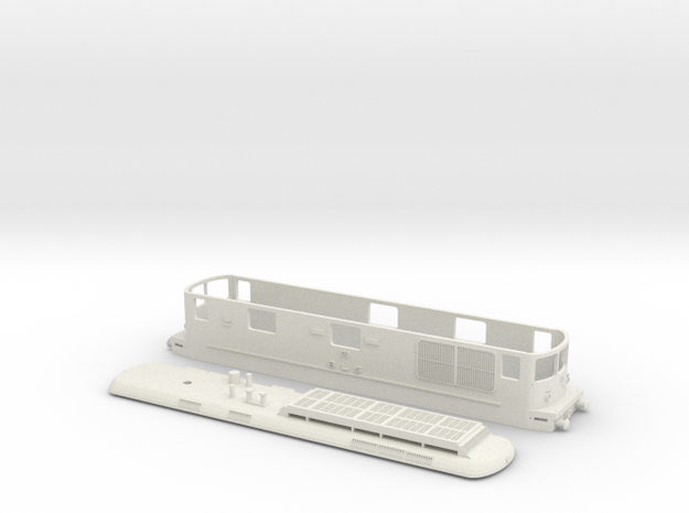 BLS Re 4/4 179 - TT Scale in White Natural Versatile Plastic