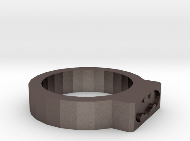 Batman Ring in Polished Bronzed Silver Steel