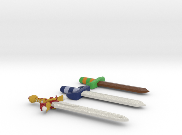 Zelda Fan Art: TLoZ: Swords 3d printed
