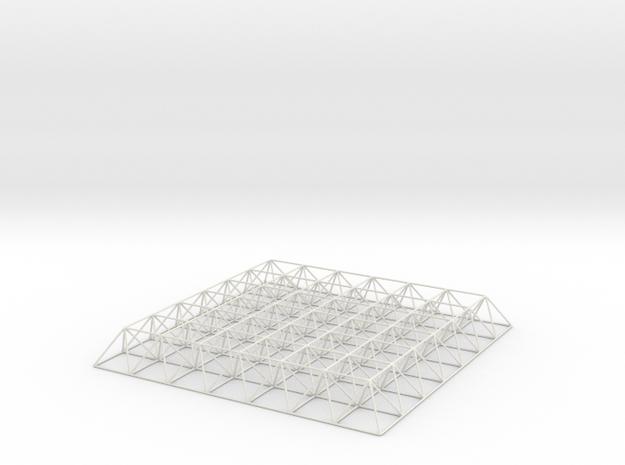 Spaceframe (scale:1/50) 3d printed
