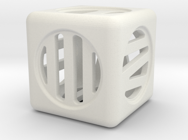 Hollow Dice Numerals 3d printed