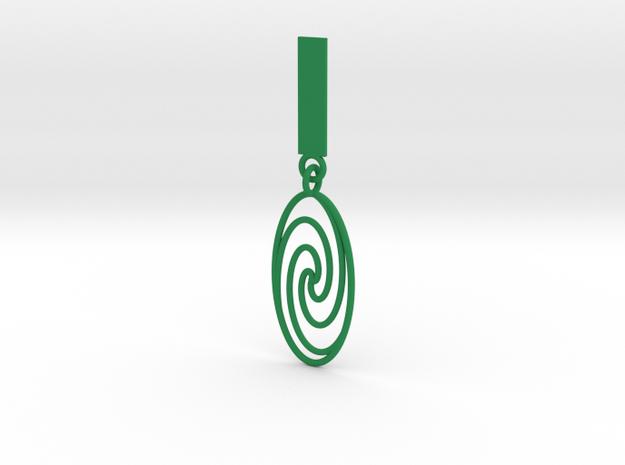 Quark Pendant - Spiral (1oW95T) 3d printed