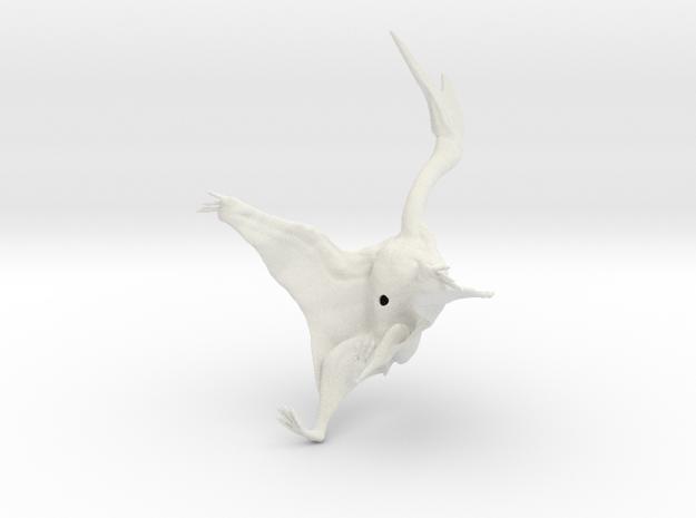 Quetzalcoatlus 1:72 scale model in White Natural Versatile Plastic