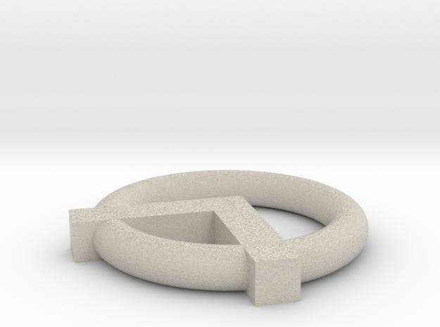 A-Symbol Pendant 3d printed