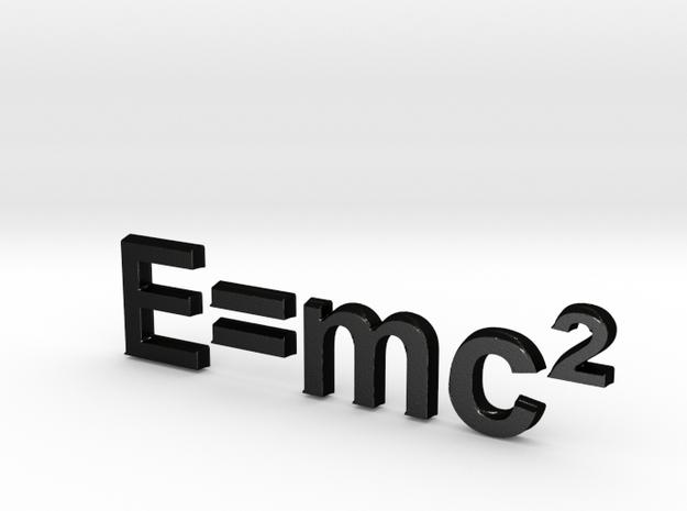 E=mc^2 3D D in Matte Black Steel