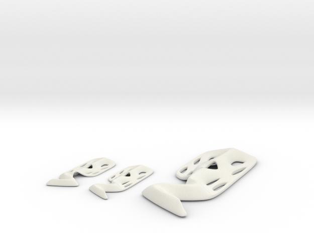 Modern Scream pendant and earring set in White Natural Versatile Plastic