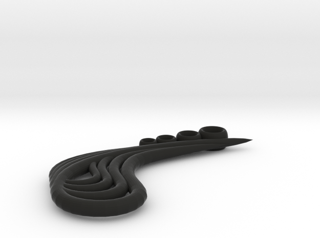 Four Teardrops pendant 3d printed
