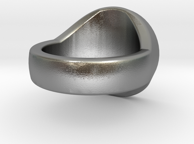 Scales of Justice Signet Ring in Raw Silver