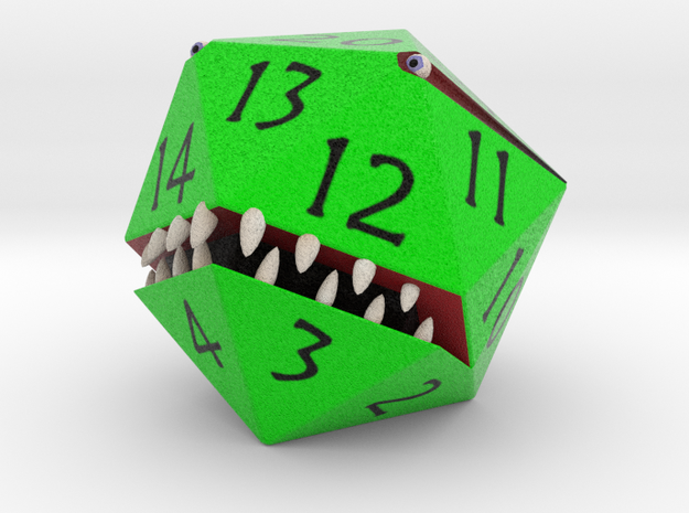 D20 Green Monster Figurine 3d printed