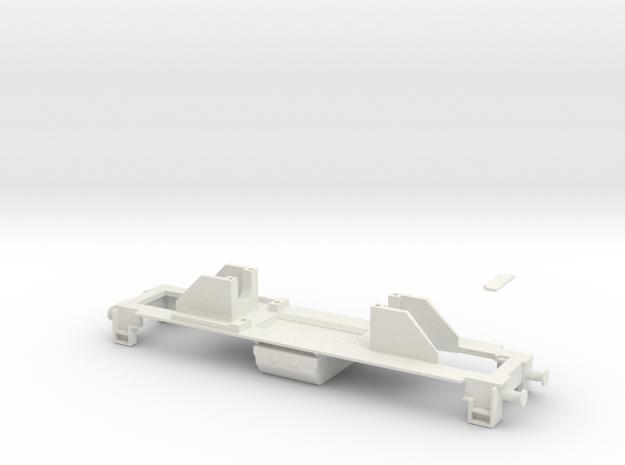 Dv12 alusta (H0) / Dv12-frame (H0) in White Natural Versatile Plastic