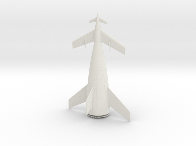 1/400 VON BRAUN ROCKET in White Natural Versatile Plastic