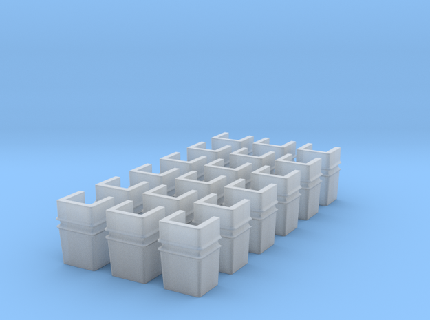 7-8n2 Straight-side Stake Pockets in Smooth Fine Detail Plastic